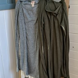 Two Mossimo long sleeve ribbed tops